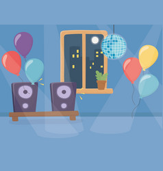 Party at home design vector