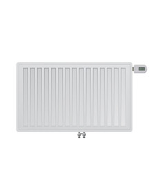 Realistic steel panel radiator electronic a vector