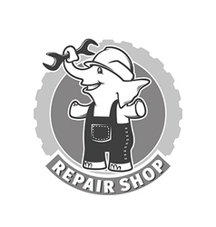 Repair shop vector