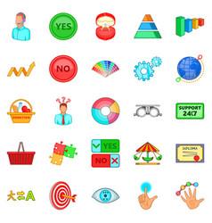 Responsiveness icons set cartoon style vector