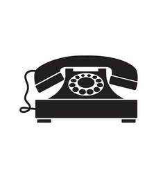 Retro phone vintage old technique vector