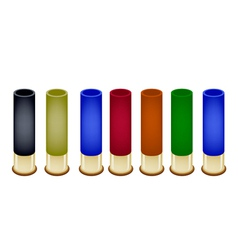 Set of Shotgun Shells on White Background vector image