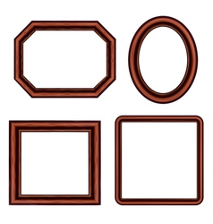 Set of vintage brown picture frames vector image