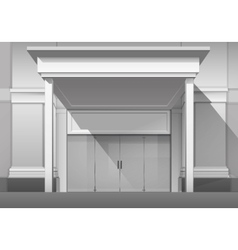 Shop Building Store Front with Closed Glass Door vector image