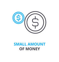 Small amount money concept outline icon vector