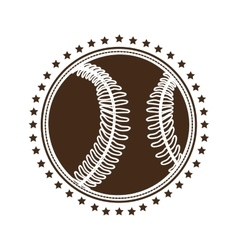 sober baseball emblem or label icon image vector image