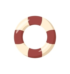 Striped lifebuoy icon cartoon style vector image
