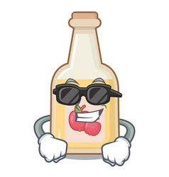 Super cool apple cider isolated with mascot vector