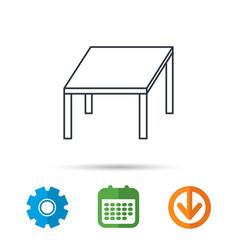 Table icon furniture desk sign vector