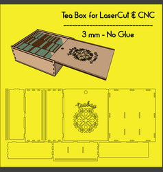 Teabox-lasercutting vector