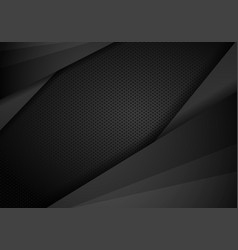 tech dark design with perforated metal texture vector image