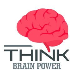 think brain power logo flat style vector image