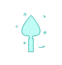 trowel icon design vector image