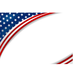 Usa or america flag design on white background vector