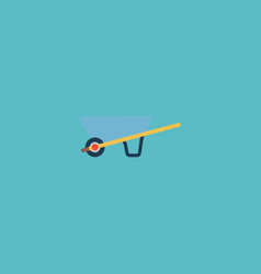 wheel barrow icon flat element vector image