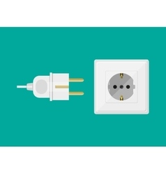 White Socket and plug vector image