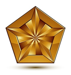 Wonderful template with golden star symbol best vector image