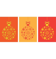 ball ball set orange vector image vector image