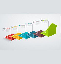 infographic design template with step structure vector image vector image