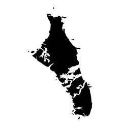 map of bahamas vector image