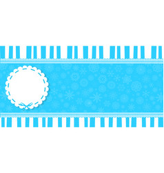 Winter banner with round pattern and space for vector