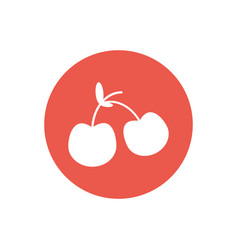 cherry fruit food healthy vector image