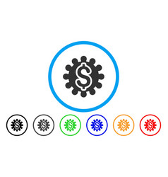 payment options cog rounded icon vector image