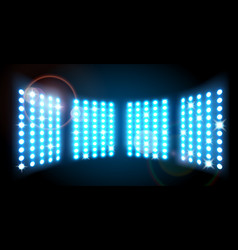 wall of lights background vector image vector image