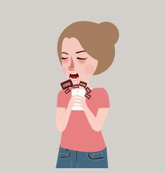cyber bullying harassment victim teenager sad vector image