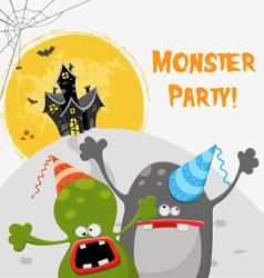 Monster Party vector image vector image