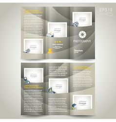 photography brochure design template photo camera vector image vector image