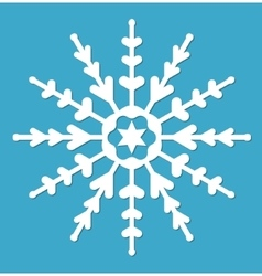 Snowflake icon flat style design elements vector image