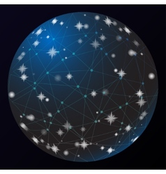 Abstract world Network lines Space light vector image