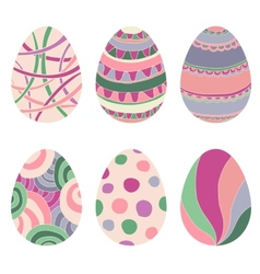 Doodle decorative eggs for Easter vector image vector image