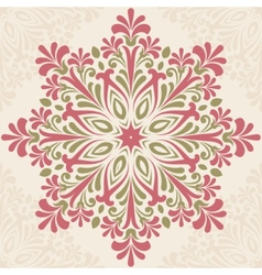 Floral round pattern vector image vector image