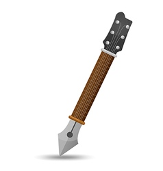 Guitar Pen Icon Symbol Music vector image