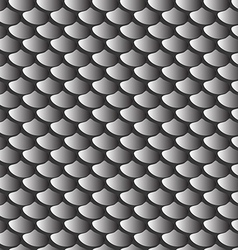 texture gray fish scales seamless pattern vector image