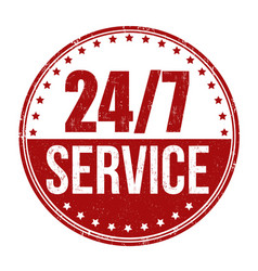247 service sign or stamp vector image