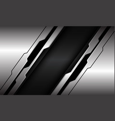Abstract silver black line circuit cyber dark grey vector