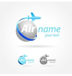 Airplane emblem sign plane symbol vector