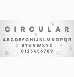 alphabet letters and numbers circular design vector image