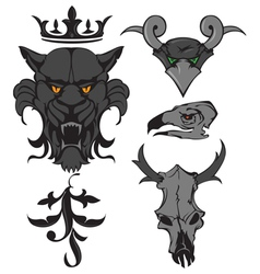 Animal heads vector