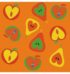 apples pattern vector image