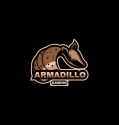 Armadillo animal mascot logo esport logo team stoc vector