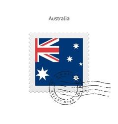 Australia flag postage stamp vector