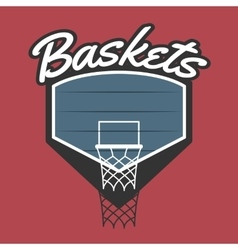 Basketball team logo vector