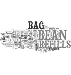 bean bag refills text word cloud concept vector image