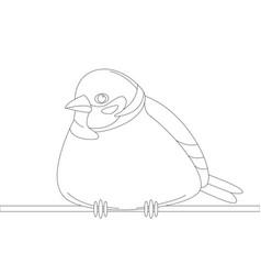 Bird sparrow lining draw vector