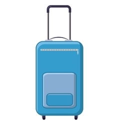 Blue travel suitcase icon cartoon style vector image