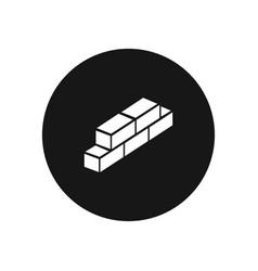 Bricks icon simple car sign vector